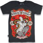 MENS NEW ROCKABILLY KUSTOM KULTURE LIQUOR BRAND T-SHIRT FREAK SHOW