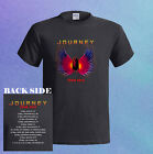 JOURNEY Rock Band Tour 2015 w/ Concert Dates NEW Men's Black T-Shirt S - 3XL