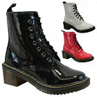 LADIES VINTAGE RETRO PUNK GOTH LACE UP WOMENS COMBAT ANKLE BOOTS SHOES DOC SIZE