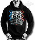 BIKER,CHOPPER,TATTOO,HOODIE,ROUTE 66 BIKE,MOTORCYCLE,all sizes