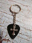 Old World Cross Guitar Pick Key Chain, 3 color options!