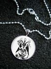 Sterling Silver Baphomet Devil Knights Templar Sabbatic Goat Pagan Idol NECKLACE