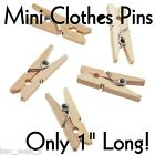 "MINI WOODEN CLOTHES PINS for Crafts { 1"" long, or JUMBO 6"" lg. }   by PLD"