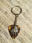 His or Her Musical Piano Guitar Pick Key Chain, 12 color options!