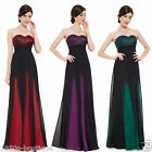 Black Blue Long Red Evening Formal Bridesmaid Party Dress Size 10-14 *UK SELLER*