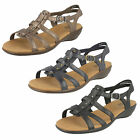LADIES CLARKS LEATHER SANDAL IN BLACK,SILVER AND NAVY ROZA JAIDA E FIT