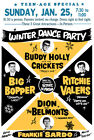 Buddy Holly Big Bopper Rock n Roll Poster Winter Dance Party 1950s Vintage Retro