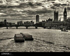 LONDON ENGLAND UK Big Ben & Thames Skyline Poster/Print