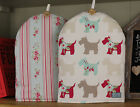 ♥ Handmade Fabric Cafetiere Coffee Cosy Cosie ♥ Scottie Dog ♥ Duckegg Vintage ♥