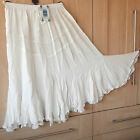 SALOOS COLLECTION SKIRT~IVORY / PALE CREAM ~ BOHO STYLE ~FLORAL~ M/L/XL~ 17043