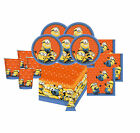 MINIONS DESPICABLE ME BIRTHDAY PARTY PACKS PLATES, CUPS, NAPKINS, TABLE COVER