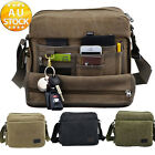 Men's Canvas Rucksack Backpack School Travel Bag Shoulder Messenger Satche