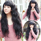 Classic Womens Lady Long Small Curly Wavy Hair Full Wigs Cosplay Party Wigs