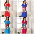BL royal blue rose red Chinese style Women's Robe Gown sleepwear dress