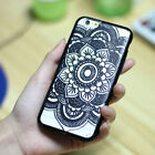 Black Clear Tribal Floral Henna Mandala Dreamcatcher Case Cover for Iphone 6 +