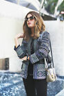 Zara Embroidered Jacket With Beads Beaded Tribal Ethnic S M L Uk 6 8 10 12 14