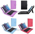 """2 in1 Detachable Wireless Bluetooth Keyboard Folio Leather Case For 7""""-8"""" Tablet"""