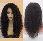 "14""-20"" Long Curly 100% remy human hair full/front lace wig with 150% density"
