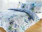 Blue Scrapbook Shabby Chic Reversible Duvet Set Single Double King