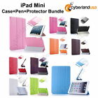 ACCESSORY BUNDLE Tablet Tri-Fold Case + Pen + Screen Protector fit iPad Mini
