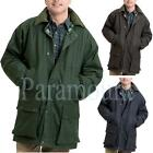 Check Lined Wax Padded Cord Collar Jacket  / Coat  Mens Size