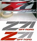 Z71 OFF ROAD Chevrolet Truck 4x4 decal sticker chevy 1500 SILVERADO chrome