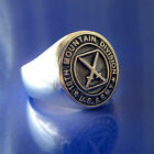 10th Mountain Division Ring - Solid Sterling Silver - Size 8 to 14