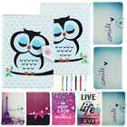 USA Stock Cute Owl Pattern PU Leather Case Cover For Most 9 10'' 10.1'' Tablet