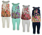GIRLS FLORAL DRESS LEGGINGS SET SUMMER OUTFIT 2-11 YEARS #47 BNWT