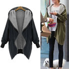 New Women Windbreak Cotton Loose Hoodie Jacket Warm Cardigan Coat Blazer