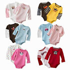 5pcs Long Sleeve Baby Boys Girls Newborn Rompers Jumpsuit Clothing Overall 3-24M