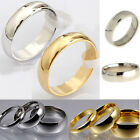 New Mens Women Gold Silver Stainless Steel Classic Traditional Wedding Band Ring