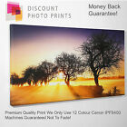 YOUR OWN PHOTO CANVAS. PERSONALISED FRAMED PRINT - LANDSCAPE ALL SIZES -ADD TEXT