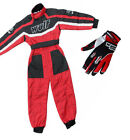 Kids Wulfsport Wulf MX Quad Motocross Overall And Gloves Red Set #21