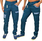 Mens Designer ETO Jeans Curved Leg Tapered Fit Chinos Trousers Pants EM 491 SALE