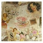 French Floral Butterfly Girls Pink Cotton High Quality Fabric Material *3 Sizes*