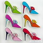10/50/200/500pcs Mixed Bulk Wood High Heel Shoes Buttons Lot Craft Sewing Cards