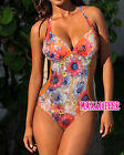 Sexy hot  Orange Flower One Piece MONOKINI SWIMSUIT SWIMWEAR UK Size 10 12 14