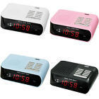 Trevi Digital Bedside Alarm Clock With AM FM Radio 4 Colours FREE DELIVERY