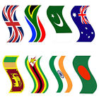 Flag Stickers Countries Flag Cricket Bat Stickers PAIR VERY LOW PRICES