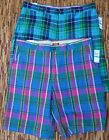 "IZOD ""MADRAS"" MENS CASUAL COTTON BERMUDA SHORTS FOUR POCKETS LIST $60"