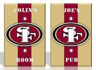 PERSONALIZED San Francisco 49ers Light Switch Covers NFL Football Home Decor on eBay