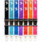 Lanyard neck strap with Butterfly for id badge holder with metal clip