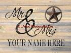 PERSONALIZED Mr and Mrs Original Signed Handmade Matted Picture Art Print A753