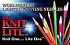 Clover® Knit Lite Single Point Knitting Needles U  Pick Size FREE Xtra Batteries