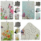 Thin Folio Bling Diamond Butterfly Flower Leather Case Cover For Samsung Tablet