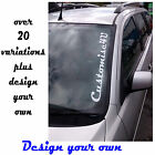 Car Windscreen Decals Various or Personalised stickers vinyls graphics DISCOUNT