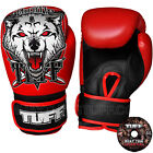 Tuff Muay Thai Kick Boxing Gloves Air Red Wolf Sparring Training Free DVD