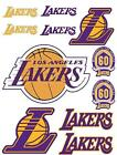 LA Lakers Iron On T Shirt Pillowcase Fabric Transfer Set #1