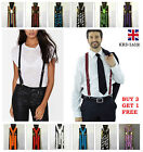 Kyпить Unisex Adjustable Slim Trouser Suspenders Braces Y Clip On Fancy Dress Mens B3 на еВаy.соm